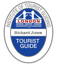 Richard Jones is a qualified London Tour Guide and this is his Blue Badge.