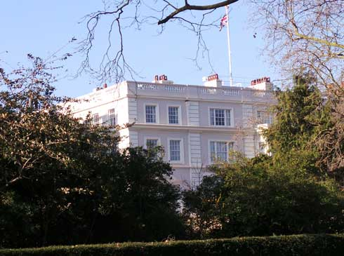 Clarence House the London home of Prince Charles and Camilla.
