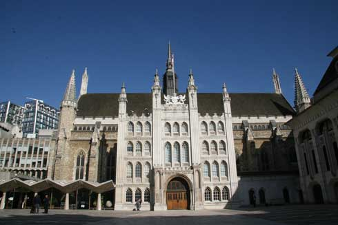 The City of London Guildhall which we visit on the Secret London Tour.
