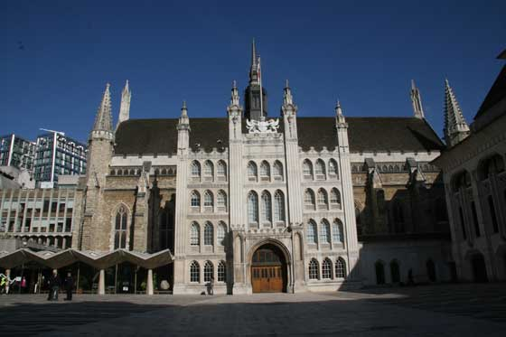 A a view of London's Guildhall.
