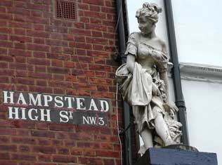 Hampstead High Street sign.