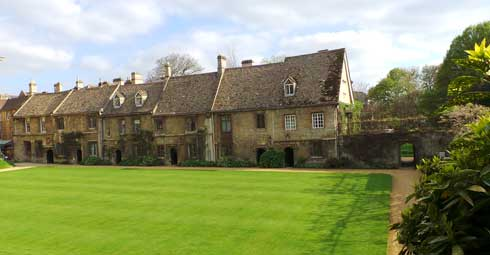 The cottages at Worcester College.