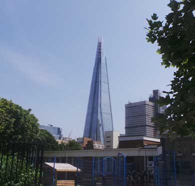 The Shard in London.